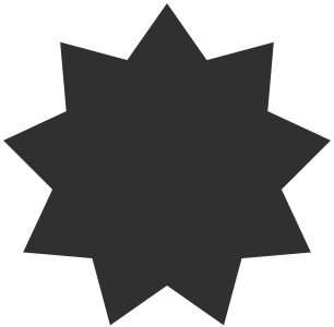 star fill pointed nine 几何图形 常用 星星