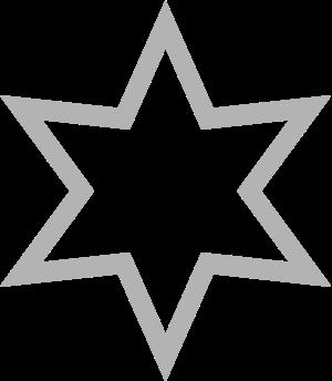 star pointed six stroke 几何图形 常用 星星