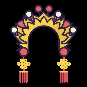 婚礼 凤冠