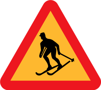 clip art clipart svg public domain snow sign symbol 运动 skiing ski skier sweden warning wikimedia commons forbidden road sign 剪贴画 符号 标志 雪