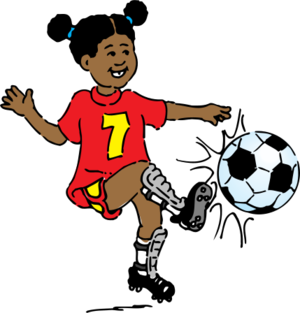clip art clipart svg public domain child kid cartoon ball football 运动 soccer children 女孩 activity exercise soccer ball kick 剪贴画 卡通 小孩 儿童 球 足球
