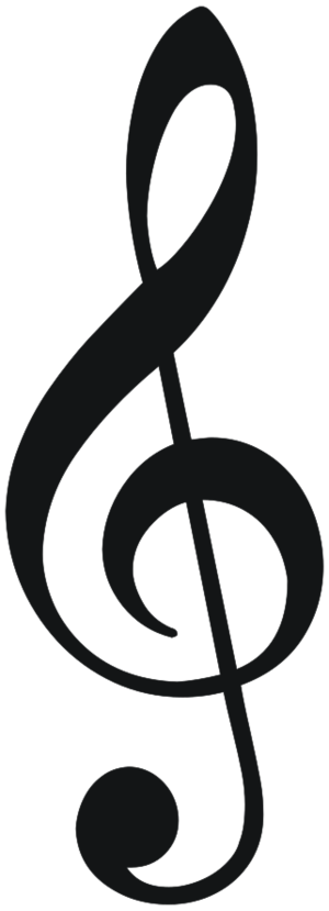 clip art clipart svg black and white 音乐 song sound symbol clef musical note note treble 剪贴画 符号 黑白 声音