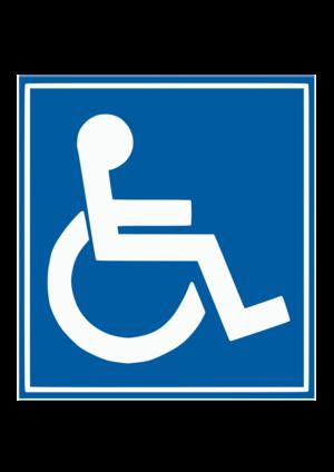 clip art clipart svg public domain 人物 sign symbol handicap handicapped wheelchair disabled blue sign 剪贴画 符号 标志