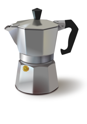 clip art clipart image svg openclipart beverage coffee liquid mug drink hot coffeine espresso beaker italian stove grey color 剪贴画 颜色 饮料 饮品 灰色