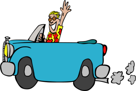 clip art clipart svg blue car transportation 交通 vehicle automobile 人物 drive ride cartoon happy fun abiclipart man 剪贴画 卡通 男人 蓝色 小汽车 汽车 运输 驾车