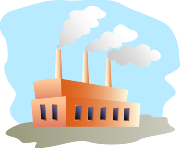 building clip art clipart image svg openclipart architecture chimney color factory industry manufacturing colour smoke industrial 剪贴画 颜色 建筑 建筑物 彩色