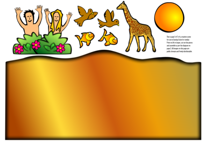 clip art clipart svg openclipart nature plant 动物 birds animals woman 人物 cartoon colour fish man sun religion christianity christian god bible sky creatures zebra world day genesis 剪贴画 卡通 男人 女人 女性 植物 彩色 宗教 太阳