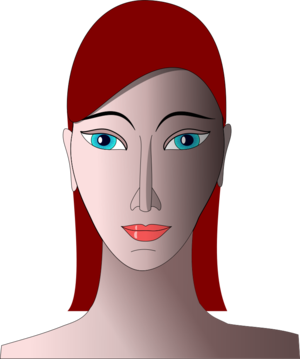 clip art clipart svg openclipart red color woman lady 人物 cartoon female eye portrait face redhead hair 剪贴画 颜色 卡通 女人 女性 红色 女士 头发 毛发 肖像 头像