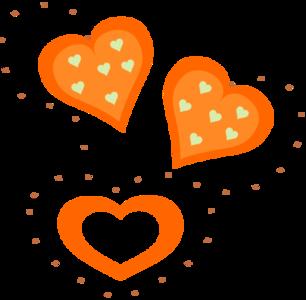 clip art clipart image svg openclipart 爱情 symbol valentine man glossy shadow orange women heart present donate 剪贴画 符号 男人 橙色 情人节 阴影 心形 心脏