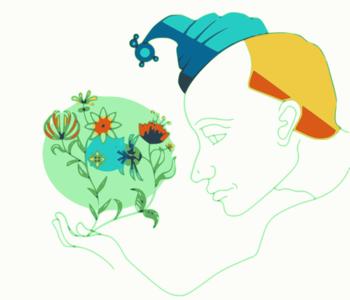 clip art clipart svg openclipart color 花朵 nature plant 人物 cartoon portrait face hat bunch clown appreciate 帽子 剪贴画 颜色 卡通 植物 肖像 头像