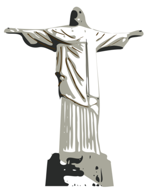 clip art clipart svg openclipart landmark man statue religion christianity tourism sightseeing christ brasil rio de janeiro brazil tourist attraction 剪贴画 男人 宗教