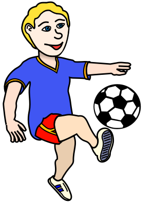clip art clipart svg openclipart color 男孩 cartoon football 运动 soccer sports game score player kick playing shoot kicking 剪贴画 颜色 卡通 游戏 足球