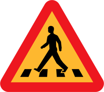 clip art clipart image svg openclipart 交通 sign warning traffic triangle roadsign international rules crossing pedestrian zebra zebra crossing intersection 剪贴画 标志 路标 三角形