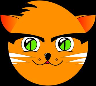 clip art clipart svg openclipart green color 动物 animals cartoon fun farm face cat cute comic eyes eyebrows kitty 剪贴画 颜色 卡通 绿色 草绿 可爱