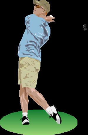 clip art clipart svg openclipart child man ball 运动 player golf golfer stick training hole grass match golfing ballpark pga 剪贴画 男人 小孩 儿童 球