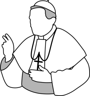 clip art clipart svg openclipart black white church outline religion religious christian faith catholic authority bishop pope clergy the pope vatican 剪贴画 黑色 白色 宗教