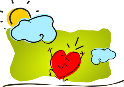 clip art clipart image svg openclipart red 爱情 cartoon symbol valentine's day sun heart clouds valentines anxious 剪贴画 符号 卡通 红色 心形 心脏 太阳