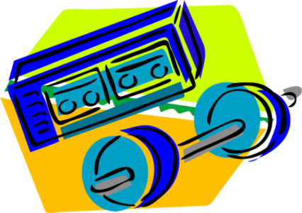 clip art clipart image svg openclipart cartoon head equipment 运动 system stereo tape weightlifting above gym weights weightlifter casette 剪贴画 卡通 器材
