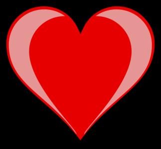 clip art clipart image svg openclipart red 爱情 symbol valentine glossy shadow heart present 剪贴画 符号 红色 情人节 阴影 心形 心脏
