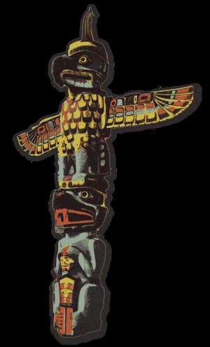 svg color traced bird history cross symbol eagle shape america culture pole totem alaska indians native americans 颜色 符号 鸟 历史