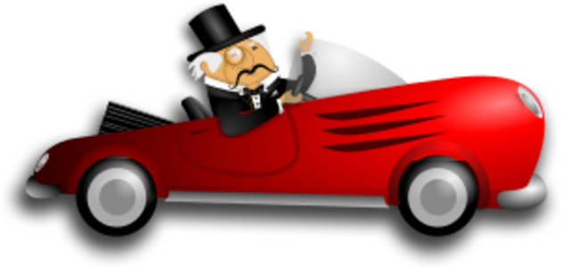 svg red old car vehicle automobile driver man rich gentleman distinguished 男人 红色 小汽车 汽车