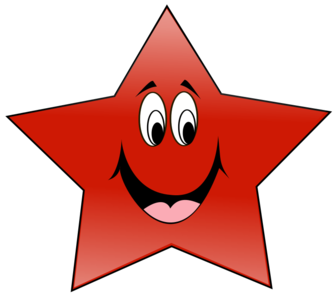 clip art clipart svg openclipart red cartoon 图标 happy smiling smile star five 剪贴画 卡通 红色 微笑 星星