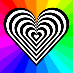clip art clipart svg openclipart 爱情 sign symbol emotion valentine heart rainbow loving affection gay hippie 剪贴画 符号 标志 情人节 心形 心脏