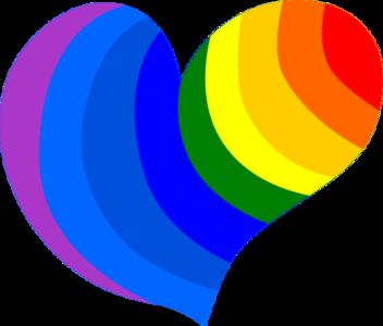 clip art clipart svg openclipart 爱情 sign symbol emotion heart rainbow loving affection gay hippie 剪贴画 符号 标志 心形 心脏
