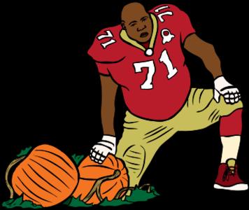 clip art clipart svg openclipart pumpkin man american football 运动 usa player nfl athlete san francisco 49ers 剪贴画 男人 美国 足球