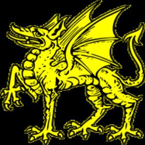 clip art clipart svg color public domain yellow 动物 vintage symbol heraldry beast dragon heraldic asian 剪贴画 颜色 符号 黄色
