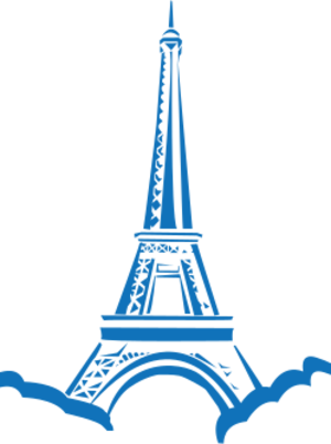 clip art clipart image svg openclipart tower landmark eiffel paris statue eiffel tower france monument culture attraction most-visited 剪贴画