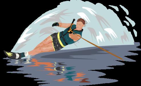 clip art clipart svg openclipart grey color blue 人物 water sea ocean 运动 ski skier surf waves surfer 剪贴画 颜色 蓝色 海洋 水 灰色