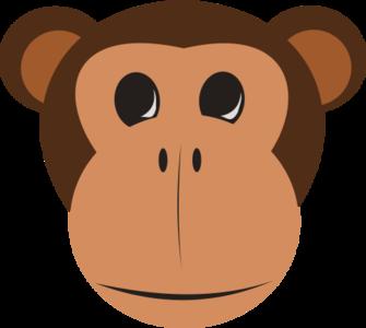 clip art clipart svg openclipart 动物 tree cartoon mammal monkey head zoo kids face tail jungle intelligent 剪贴画 卡通 树木 小孩 儿童 哺乳类动物