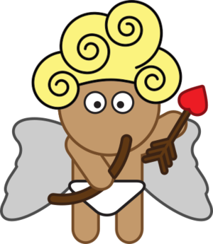 clip art clipart image svg openclipart public domain ancient greek mythology 爱情 cartoon romance god 宝宝 myth heart arrow affection cupid attraction desire 剪贴画 卡通 心形 心脏 箭头