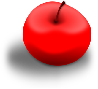 clip art clipart svg openclipart red 食物 apple fruit shadow crop produce 剪贴画 红色 阴影 水果