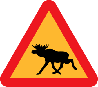 clip art clipart image svg openclipart 动物 交通 sign warning traffic triangle wild roadsign international rules moose elk 剪贴画 标志 路标 三角形