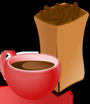 clip art clipart svg openclipart red coffee cup drink sack beans coffeebean bean coffee bean coffeebeans mocha 剪贴画 红色 饮料 饮品