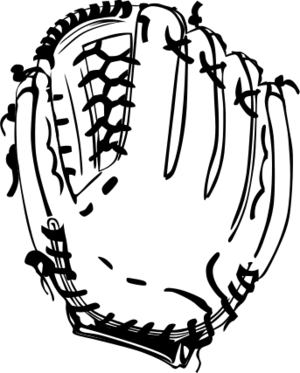 clip art clipart svg openclipart black play white outline cap glove ball 运动 player baseball training hat match league champions baseball bat 帽子 剪贴画 黑色 白色 球