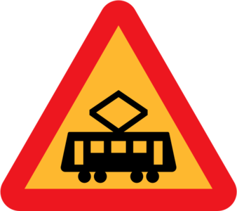 clip art clipart image svg openclipart 交通 sign warning traffic triangle roadsign international rules intersection tram tram crossing 剪贴画 标志 路标 三角形
