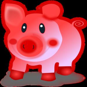 clip art clipart svg openclipart red color 动物 cartoon bank smiling pig piggy comic domestic piglet sow 剪贴画 颜色 卡通 红色 微笑
