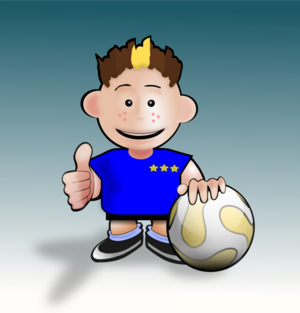 clip art clipart svg openclipart child 男孩 cartoon ball football 运动 soccer kids training okay ok 剪贴画 卡通 小孩 儿童 球 足球
