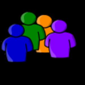 clip art clipart image svg openclipart green 人物 图标 symbol orange abstract purple figure group guy protrait 剪贴画 符号 绿色 草绿 橙色 紫色