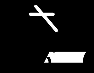clip art clipart svg openclipart black church silhouette cross paper religion christianity bible prayer book ceremony ritual biblical creed 剪贴画 剪影 黑色 宗教 书 书本 书籍