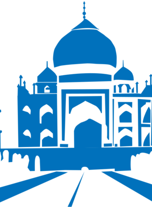 building clip art clipart image svg openclipart blue history white landmark taj mahal india monument new delhi 剪贴画 白色 蓝色 建筑 建筑物 历史
