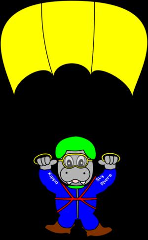 clip art clipart svg openclipart color blue yellow 动物 cartoon funny hippo zoo fun sky toon diver hippopotamus sky diver 剪贴画 颜色 卡通 蓝色 黄色