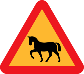 clip art clipart svg openclipart 交通 sign warning traffic horse danger triangle roadsign international rules horses 剪贴画 标志 路标 危险 警告 三角形