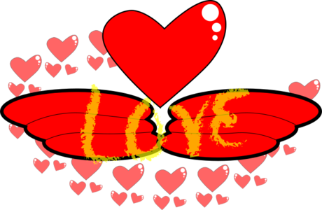 clip art clipart svg openclipart red wing 爱情 sign symbol heart hearts pink light romantic effect wing of love 剪贴画 符号 标志 红色 心形 心脏 粉红 粉红色