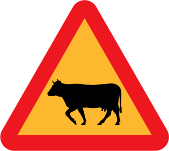 clip art clipart image svg openclipart 动物 cow 交通 sign farm warning traffic danger triangle roadsign international rules cattle cows 剪贴画 标志 路标 危险 警告 三角形