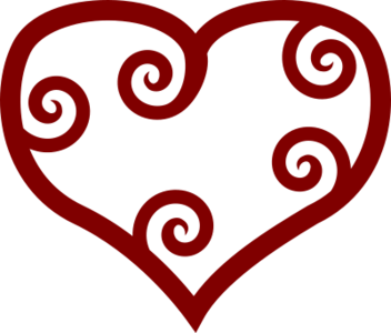 clip art clipart image svg openclipart red 爱情 图标 symbol emotion valentine power sun heart shape loving affection 剪贴画 符号 红色 情人节 心形 心脏 太阳