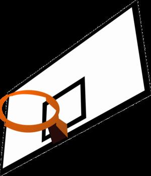 clip art clipart svg openclipart black orange 运动 goal basketball net rim jump 剪贴画 黑色 橙色